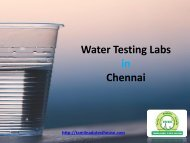 Water Testing Lab in Chennai - Tamilnadu Testhouse