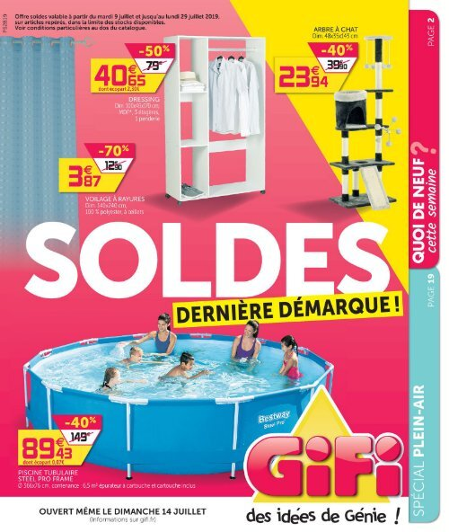catalogue Gifi 9 Juillet-29 Juillet 2019