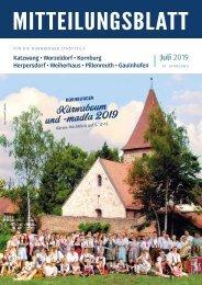 Nürnberg-Katzwang/Worzeldorf/Kornburg/Herpersdorf Juli 2019