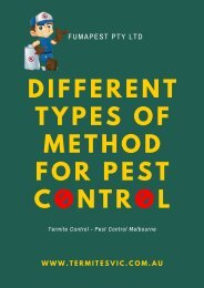 Different Types of Method for Pest Control