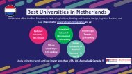 List of Universities in Netherlands for International Students