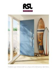 RSL Steel Doors Brochure