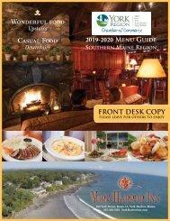 2019-2020 Southern Maine Dining Menus