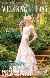 2019-2 WEDDING SO EASY Book - Utahs Premier Wedding Professionals and Planning Guide