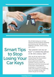 Simple Ways to Stop Losing Car Keys - Krazy Keys
