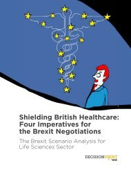 Shielding British Healthcare -Four Imperatives for the Brexit Negotiations-WNS Decision Point