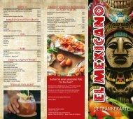 Getränkekarte - Rablander Grillstube - El Mexicano