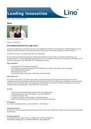 Zukunftsperspektiven für junge Leute - Lino GmbH