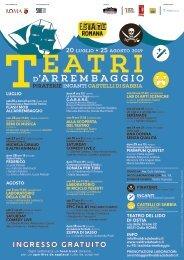 Locandina Teatri d'Arrembaggio 2019