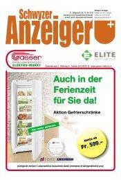 Schwyzer Anzeiger – Woche 28 – 12. Juli 2019