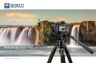 SIRUI Photo and Video Support Catalogue 2019