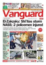 10072019 - El-Zakzaky: Shi'ites storm NASS; 2 policemen injured