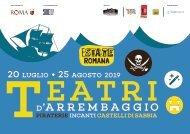 Flyer Teatri d'Arrembaggio 2019