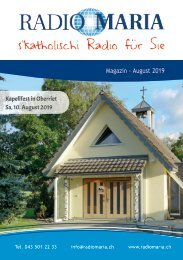 Radio Maria Magazin - August 2019