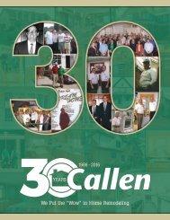 Callen Construction 30th Anniversary