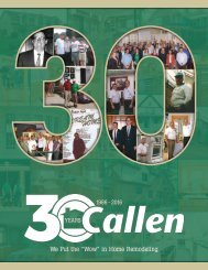 Callen Construction 30th Anniversary