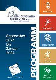 Volksbildungswerk Fürstenzell e.V. - Aktuelles Programm