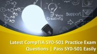 Easy way to get success in SY0-501 CompTIA Exam with good grades
