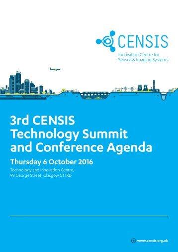 3rd CENSIS Tech Summit 2016_Agenda