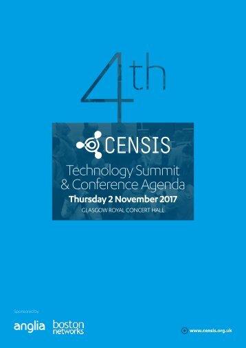4th CENSIS Tech Summit 2017 Agenda
