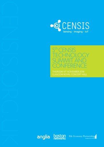 5th CENSIS Tech Summit 2018 Agenda