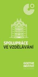 Spolupráce ve vzdělávání Goethe-Institutu v České republice