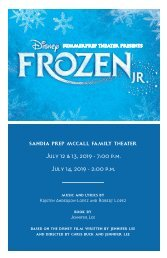 Disney's Frozen JR. Program