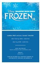 Disney's Frozen JR. Program