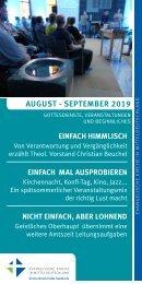Veranstaltungsprogramm des Evangelischen Kirchenkreises Halle-Saalkreis für August und September 2019
