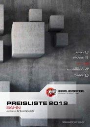 Preisliste Kirchdorfer Concrete Solutions | Bahn