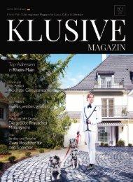 Klusive Magazin - Das regionale Magazin für Luxus, Kultur & Lifestyle