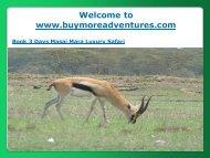 Book 3 Days Masai Mara Luxury Safari
