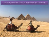 Best Instagrammable Places to Include in Cairo Excursions