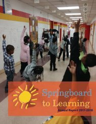 Springboard to Learning 2017-2018 Annual Report