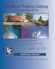 LCSC Workforce Training Fall 2019 Catalog