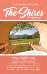 The Shires of Vermont 2019-2020 Visitors Guide