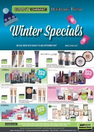 Giant Chemist Winter Specials August 2019
