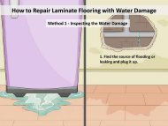 How to Repair Laminate Flooring with Water Damage