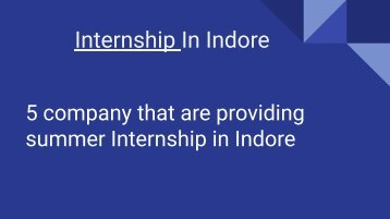 internship in indore