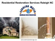 Residential Restoration Services Raleigh NC