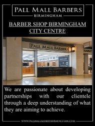 Barber Shop Birmingham City Centre