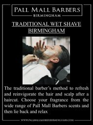 Traditional Wet Shave Birmingham