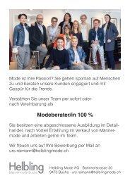 Modeberater/in 100 %