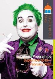 Otley Courthouse Autumn-Winter Programme September 2019- February 2020