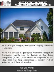 Residential Property Management New Orleans | Call -(504)483-7028 | latterblumpm.com
