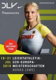 DLV-Teambroschüre U20-Europameisterschaften in Boras