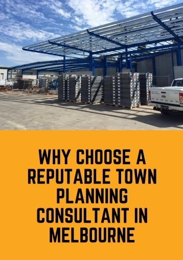 Why Choose a Reputable Town Planning Consultant in Melbourne