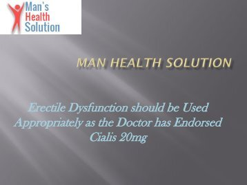 Cialis 20mg-Manhealthsolution.com