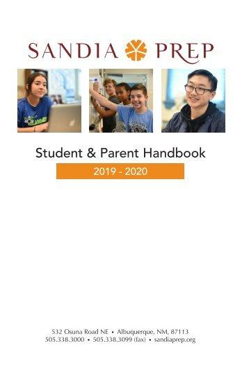 Student Parent Handbook 2019-2020 as of 8.13.19