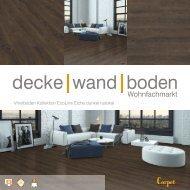 dwb Produktinformation VinylBoden Kollektion EcoLine Eiche dunkel rustikal